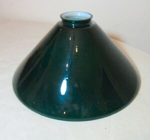 Antique Vintage Green White Case Glass Oil Electric Lamp Chandelier Shade Part
