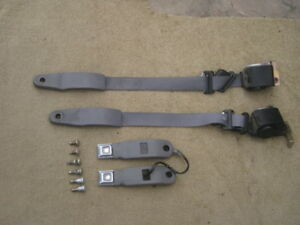 Ford Mustang Seat Belts Recievers Front Grey Color 1988 1993