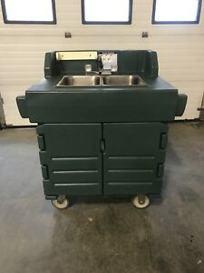 Cambro Ksc402 Kiosk Portable Hand Wash Sink With Hot Cold Water Exc