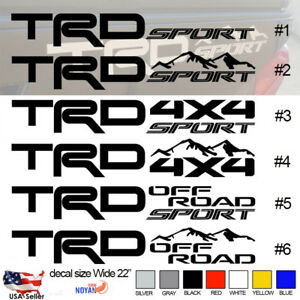 Trd Off Road Decals Toyota Tacoma Truck Bed Vinyl Stickers