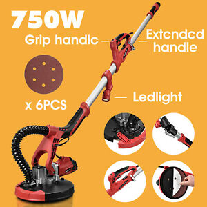 Electric Drywall Sander Tool 750w Variable Adjustable 5 speed Sand Pad led Light