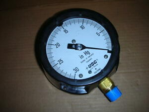 Us Gauge Co Ametek 0 To 30 Hg Vac 4 1 2 Vacuum Gauge 1 2 Npt 150000 Solfrunt