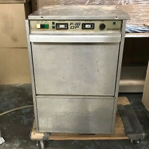 Jet Tech F 16 Dp Compact High Temp Dishwash Machine Commercial Dishwasher Used