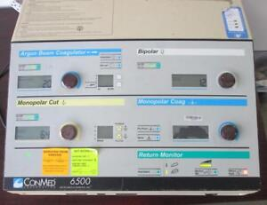 Conmed 6500 Electrosurgical Generator Abc parts Unit