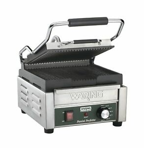 Waring Commercial Wpg150 Compact Italian style Panini Grill 120 volt