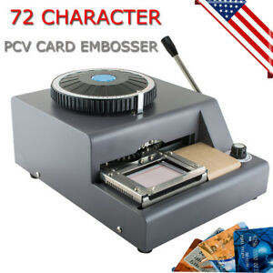 72 character Manual Stamping Machine Pvc id credit Card Code Printer Embosser Us