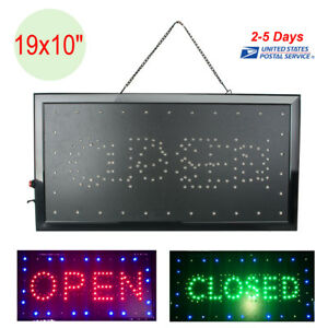 Bright Animated Led Open Store Shop Business Sign 19x10 Neon Display Lights Usa