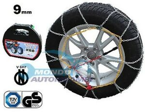 Snow Chains 9mm 225 45 R17 Mercedes Benz Class B W246 W242 01 2011