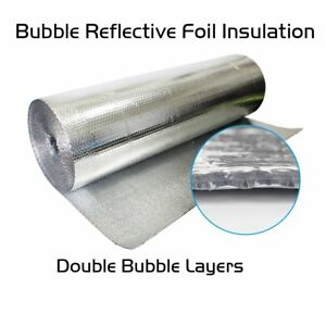 Double Foil Heat Radiant Insulation Shield 200 Sqft Roof Wall Ceiling Attic Mat