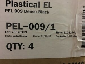 Fujifilm Plastical El Uv Screen Print Ink Pel 009 Dense Black 1 gallon