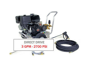Hotsy Cold Water Pressure Washer 2700 Psi 3 0 Gpm Gas Engine Direct Drive