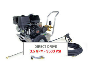 Hotsy 3500 Psi 3 5 Gpm Gas Engine Direct Drive cold Water Pressure Washer