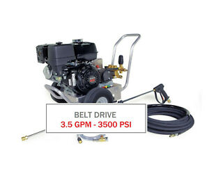 Hotsy 3500 Psi 3 5 Gpm Gas Engine Belt Drive Cold Water Pressure Washer