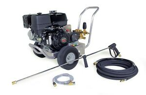 Hotsy Cold Water Pressure Washer 4000 Psi 4 gpm Gas Engine Electric Start Belt