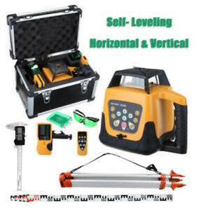 Ridgeyard Automatic Green Laser Level Rotary Rotating Self Leveling W Tripod