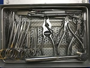Kmedic 27 Piece Podiatry Surgical Instrument Set With Case