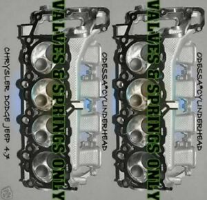 New 2 Chrysler Dodge Jeep Dakota 4 7 Sohc Cylinder Heads Val spr Only No Core