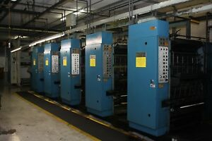 1998 Process King 5 unit Heat set Web Printing Press