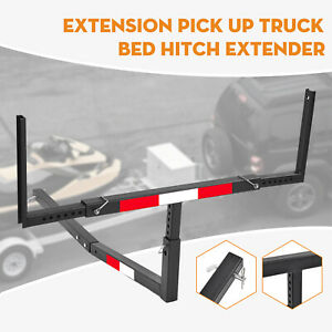 Pick Up Truck Bed Hitch Extender Steel Extension Rack Canoe Boat Kayak Lumber