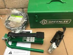 Brand New Greenlee 1725 Hydraulic Foot Pump With 800 Cable Bender