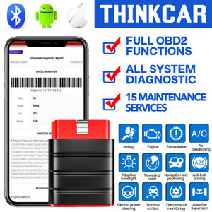 Thinkdriver Car Obd2 Scanner Bluetooth Srs Abs Transmission Epb Tpms Scan Tool
