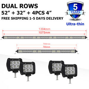24 Autofeel 22inch 2176w Led Light Bar Five Row Driving Lights Spot Flood Combo