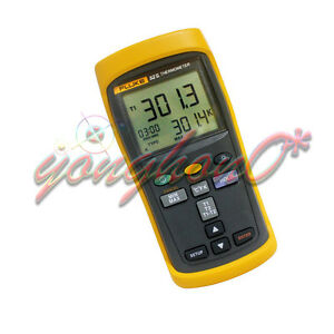 Fluke 52 Ii Dual Input Digital Thermometer With Two 80pk 1 Thermocouples