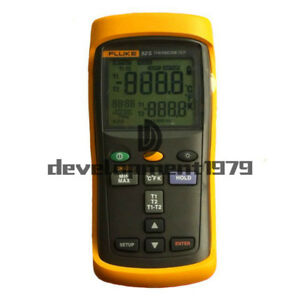New Fluke 52 Ii Dual Input Digital Thermometer With Two 80pk 1 Thermocouples