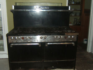 Vintage 10 Burner Magic Chef Industrial Stove Range With 2 Ovens works Great