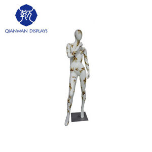 Female Mannequin Window Display Water Transfer Printing Full Body Mannequins