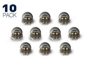 Amber 6 Led Hideaway Strobe Light Tow Truck Emergency Warning Flashing 10 Pack