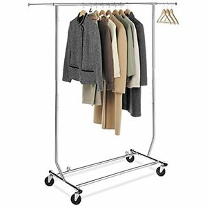 Collapsible folding Rolling Clothing Garment Rack Salesman s