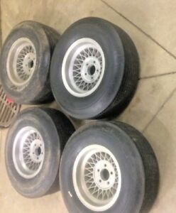 Vintage Ansen Appliance Wheels 4 And Vintage Tires H78 X 14 5 On 4 1 2