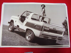 1966 Ford Bronco Factory Custom Dune Buster 11 X 17 Photo Picture