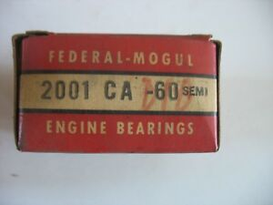 Nos Federal Mogul Engine Bearings Pr 2001 Ca 60 Semi