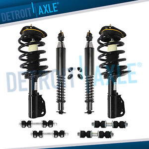 Front Rear Strut Coil Spring W Sway Bar Kit 2000 2010 Cadillac Deville Dts