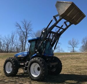 2008 New Holland Tv6070 Tractor Bi directional 3 Point Pto On Both Ends