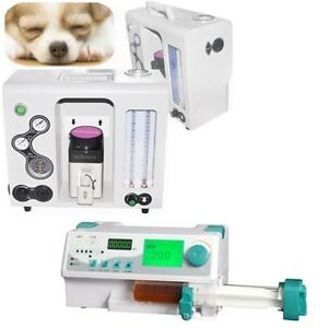 Veterinary Animal Anesthesia Machine Isoflurane Infusion Syringe Pump Kvo Work