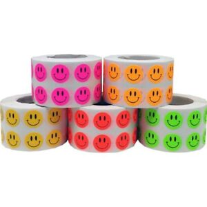 Smiley Face Stickers Happy Labels For Teachers Bulk Pack 1 2 Inch Round Circle