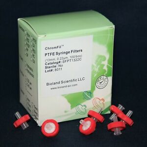 13mm Ptfe Syringe Filter 0 22 Um Pore Size Non sterile 10 5000 Pieces