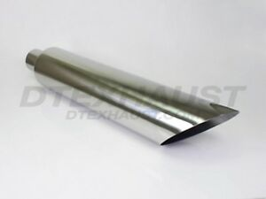 Q9 401036ac Stack Angle Cut Stainless Diesel Tip 4 Inlet 10 Outlet 36 Long
