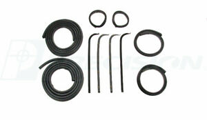 71 72 Ford Truck Door Gaskets Beltline Molding Channel Weatherstrip Seal Kit