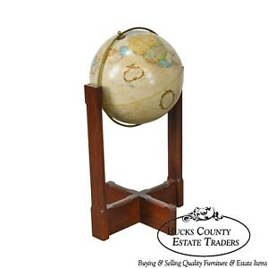 Replogle Vintage 16 World Classics Series Oak Brass Floor Globe