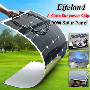 100w Watt 18v Elfeland A class Sunpower Semi flexible Solar Panel For Rv Boat