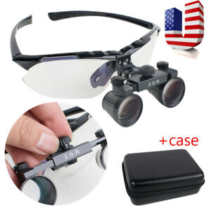 Usa 2 5days Dental Loupes 2 5x R Surgical Medical Binocular Loupe Adjustable Fda
