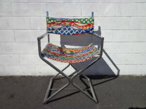 Chrome Chair Boho Chic Mid Century Modern Milo Baughman Style Directors Chairs