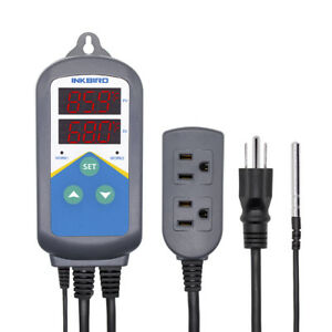 Inkbird Digital Wired Temperature Switch Controller Heater Thermostat Timer 110v