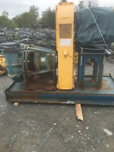 Rx 3627 Metso Hm250 Fhc d 10 X 8 Slurry Pump W 50hp Motor And Frame