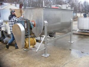 50 60 Cu ft Stainless Steel Ribbon Blender Used In Food Plant