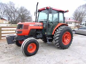 Kubota M9000 Cab Tractor low Hours Can Ship 1 85 Loaded Mile